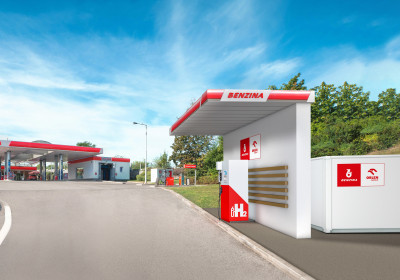 Unipetrol uzavrel zmluvu so spoločnosťou Bonett o inštalácii troch vodíkových stojanov na čerpacích staniciach Benzina
